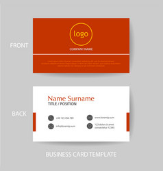 Modern and clean business card design template vector