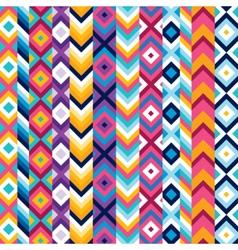 Multicolor ethnic stripe pattern vector