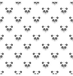 Panda pattern simple style vector