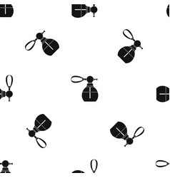 Perfume bottle with vaporizer pattern seamless vector