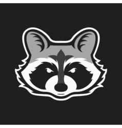 Raccoons head logo for sport club or team Animal vector image vector image
