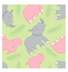 Rhino and hippo pattern vector