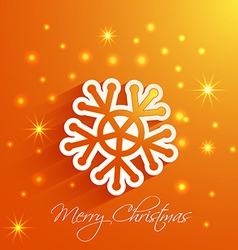 snowflake Merry Christmas card vector image