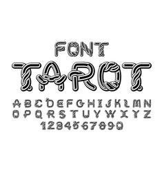 tarot font traditional ancient manuscripts celtic vector image