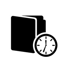 time icon vector image vector image