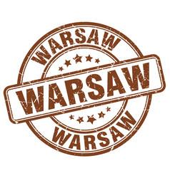 Warsaw stamp vector