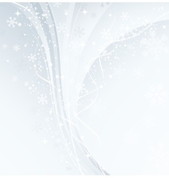 White Christmas banner with snowflakes vector image