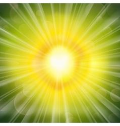 Green glow vector