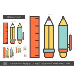 Stationery line icon vector
