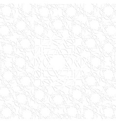 3d white arabic pattern vector image