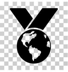 World medal icon vector