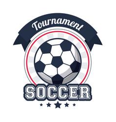 soccer sport tournament badge image vector image