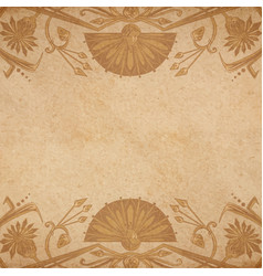 Egyptian parchment background vector