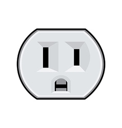 USA electric socket vector image