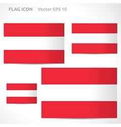 Austria flag template vector
