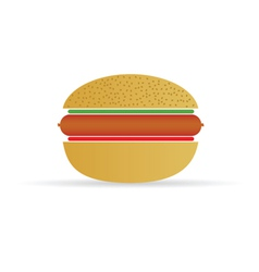 Hot dog in a bun vector