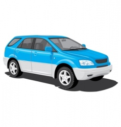 Sports utility vehicle vector