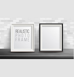 3d photo frame set good for your vector image vector image