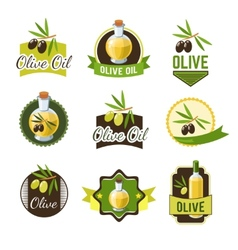Olive ild badges vector