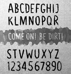 Dirty font vector