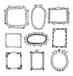 Hand drawn frames vintage photo frames vector