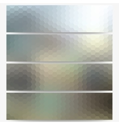Abstract hexagonal headers set blurred design vector