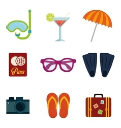 Icons of summer vector