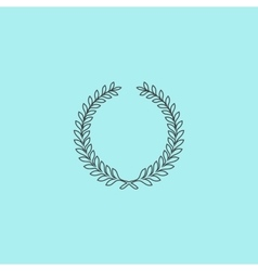 Victory laurel wreath vector