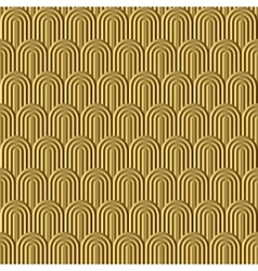 Fish scale golden seamless pattern vector