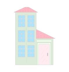 Three storey house icon cartoon style vector