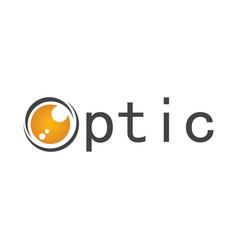 circle optic logo vector image