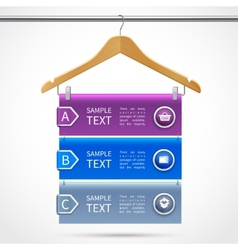 Clothes hanger sale infographics vector