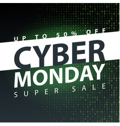 Cyber monday super sale poster clearance mega vector