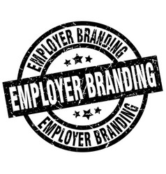 employer branding round grunge black stamp vector image vector image