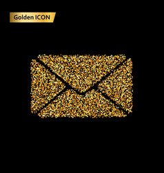 envelope gold icon vector image vector image