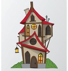 funny house cartoon vector image vector image