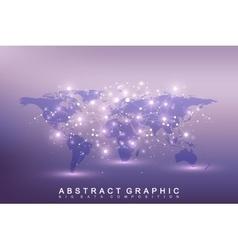 Geometric graphic background communication big vector
