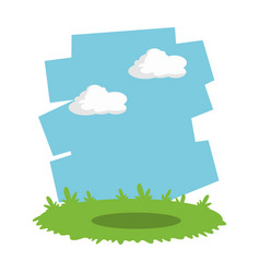 grass and sky landscape cartoon vector image vector image