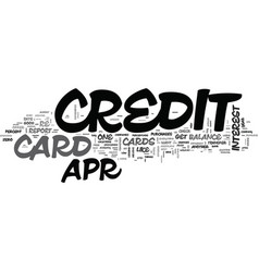 It s easy to find a apr credit card text vector