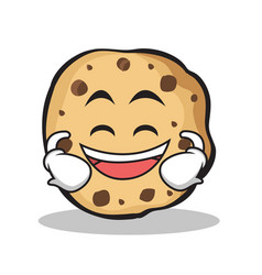 Laughing sweet cookies character cartoon vector