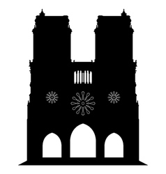Notredame of cathedral in paris vector