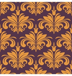 Orange florich seamless background vector