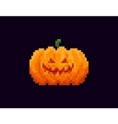 Pixel halloween lantern vector