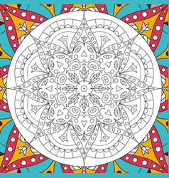 Printable antistress coloring book page for adults vector