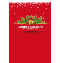 red christmas background greeting card vector image vector image