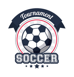Soccer sport tournament badge image vector