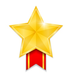 Star Shaped Medal vector image