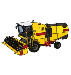 Yellow and red harvester vector image vector image