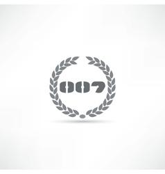 007 icon vector
