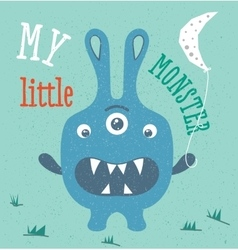 Monster in baby style vector